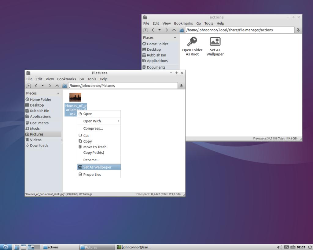 pcmanfm desktop