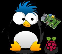Lenny holding a Raspberry Pi